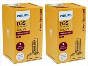 2x PHILIPS 4300K OE FACTORY D3S 42403C1 HID XENON w/ SECURITY LABEL ECE / DOT