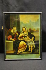 Antique 1804 Reverse Painted Portrait of THE HOLY FAMILY by W.B. Walker, London