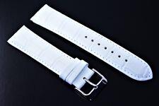 Herren Uhrenarmband 22 mm kroko Uhren band Weiss Echtleder Ersatz band strap