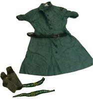 Vintage 1950s Girl Scouts USA Green Intermediate Uniform Dress Sz 8 Youth Dress