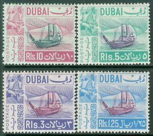 EDW1949SELL : DUBAI 1967 Sc #86-89 Ships. High values. VF, MOG VLH. Cat $75.50.