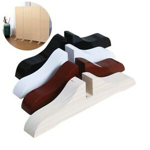 3PCS Screen Stand Solid Wood Base Partition Base Support Legs Support Bracket