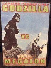 Godzilla Vs. Megalon DVD Passion Productions Region Free Rare Out of Print VG