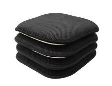4 Pack: Non Slip Honeycomb Premium Memory Foam Chair Cushions - Assorted Colors
