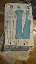Antique SIMPLICITY PATTERN #1228  Sz 14, Dress