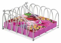 Blume Blumen Pink 20 X Papier Napkins Silber Gekreuzt Bogen Serviettenhalter Set