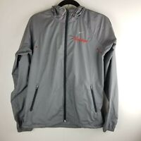 Nike Women's Sportswear windbreaker Size  M Heritage Gray Hooded Jacket Full Zip