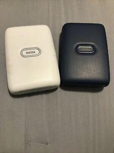 2-Fujifilm Instax Mini Link Smartphone Printers - Ash White & Denim Blue