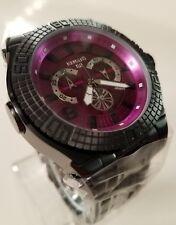 Renato Limited Edition Buzo 52 Swiss Chrono Black Stainless Watch Royal Purple!