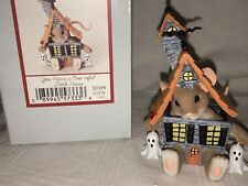 """Charming Tails """"YOU HAVE A BOO TIFUL LITTLE HOUSE""""  DEAN GRIFF NIB Halloween"""