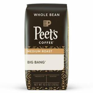 Peet's Coffee Medium Roast, WHOLE BEAN Coffee, 10.5 Oz Bag, 10.5 Oz New 03/21