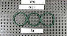 Gummiring für LEGO Tech.(x89)-Rubber Belt Large(Round Cross Section) 4X4-Grün-3x