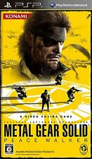 Used PSP Metal Gear Solid Peace Walker  SONY PLAYSTATION JAPAN IMPORT