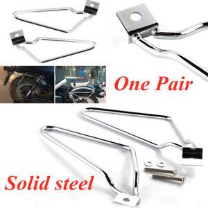 Steel Motorycle Bracket Rack Saddle Pannier Bag Spacer Durable Bars Saddlebags