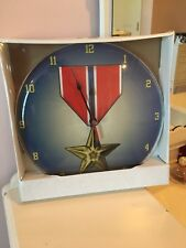 Bronze Star Clock