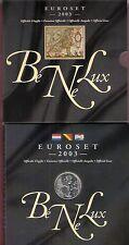 NEDERLAND BENELUXSET 2003 ZILVEREN PENNING & EURO'S BELGIE, LUXEMBURG, NEDERLAND