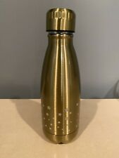 New Metal Reusable Water Bottle, Medium Size, Gold With Stars, Euc