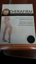 Therafirm Therapeutic Gradient Compression Hosiery Black Maternity Pantyhose