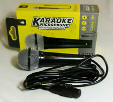 More details for r2853 dynamic microphone handheld with xlr lead metal bodied pa dj vocal mic