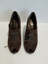 Nickels Womens Brown Suede Ankle Boots Size 6 M