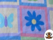 """Polar Fleece Fabric Print Floral Baby Blanket / 60"""" W / Sold by the yard S-120"""