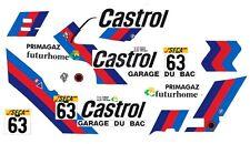 #63 Garage DU BAC BMW M3 1987 1/32nd Scale Slot Car Decals