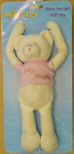 KELLY BABY CREAM BEAR DOOR HANGER SOFT TOY NWT