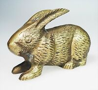 Brass Bunny Rabbit Ring Holder Easter Paper Weight