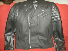 Joe Faris - Detroit - Men's Wool/Leather Motorcycle Jacket - New! - XL.5