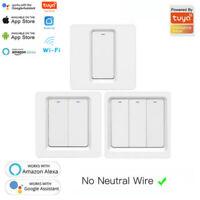 1/2/3 Gang TUYA WiFi Smart Touch Schalter 220-240V Home Wandknopf für Alexa DE