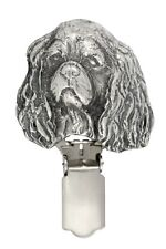 Cavalier King Charles Spaniel, silver covered clipring,nhigh qauality Art Dog UK
