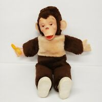 "Vintage 15"" Mr Bim Monkey Chimp Zippy Zip with Banana Plush"