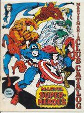 Marvelmania Club Catalog Super-Heroes, Full Color, Marvel Comics 1969, Kirby Art