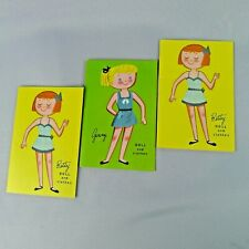 3 Vintage Lowe Cut Out Miniature Paper Doll Booklets Betty Georgie Ginny Milly