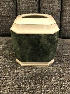 Croscill Carrara Porcelain Cube Tissue Box Cover
