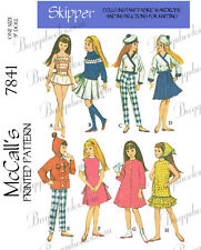 McCalls 7841 - Skipper and other 9 inch doll sewing patterns - also fits blythe!