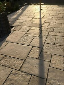 Paving,Olde Yorke Buff Colour 10 sq/m Random sizes incl Delivery(some exceptions