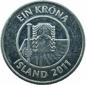 COIN / ICELAND / ISLAND / 1 KRONA 2011   #WT22721