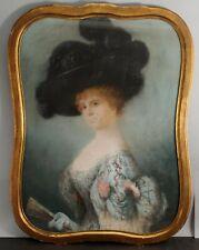 Antique ADOLFO MULLER-URY American Pastel Portrait, Mrs Charles Tyson Yerkes