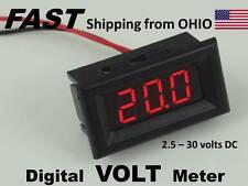 Solar Panel LED Digital VOLTMETER Volt Meter - Tester for voltage - DC flush aaa