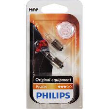 Philips Set 2 Piece Lamps H6W 12V 6W BAX9s Premium 1325752