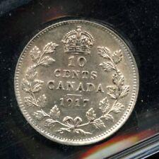 1917 Canada Ten Cents - ICCS AU-55 Cert#PG299