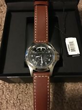 Hamilton Watch,Men's Swiss Automatic KhakiKing Brown Leather Strap40mm H64455533