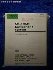 Sony Bedienungsanleitung MHC RX77 RX77S R700 GRX5 RX66 RX900 GRX7 (#3033)