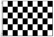 CHECKERED FLAG - Black/White - 8FT X 5FT