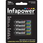 Infapower Rechargeable AAA Ni-MH Multi Usage Batteries 1.2v 700mAh 4 Pack New
