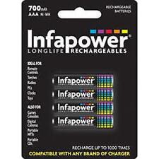 INFAPOWER rechargeable aaa ni-mh multi usage piles 1.2v 700mAh pack de 4 neuf