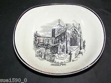 Gray's Pottery  'Hexham Abbey' shaped bowl  vgc