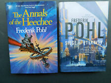 2 X 1st editions Frederik POHL Annals of the HEECHEE & SEIGE of ETERNITY 1987/97
