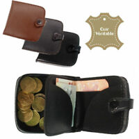 Porte monnaie cuvette avec rangement à billets en CUIR  bourse